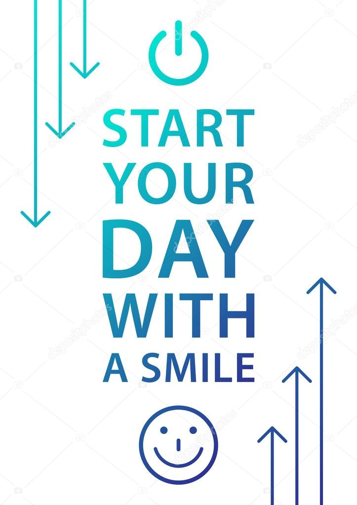 Start Your Day With Smile Phrase Stockvector Aleksorel 107650002