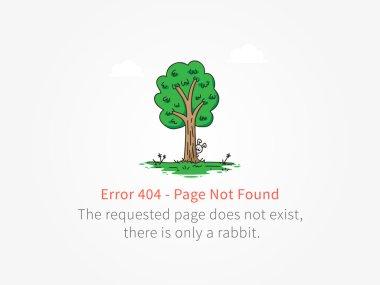 Error 404 page little rabbit