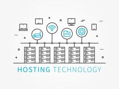 Data Hosting Technology concept