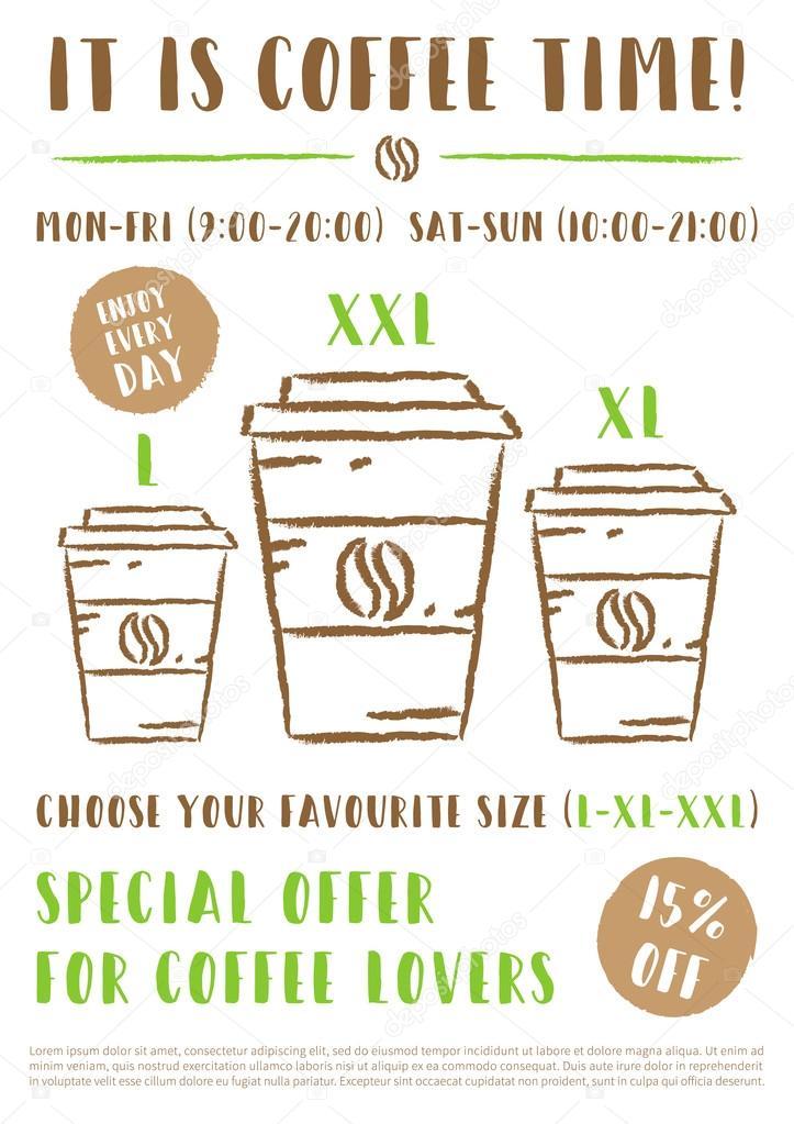 coffee promotion poster vector template stock vector aleksorel