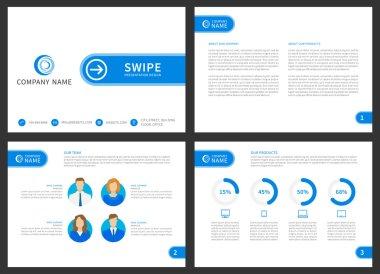 Swipe presentation design