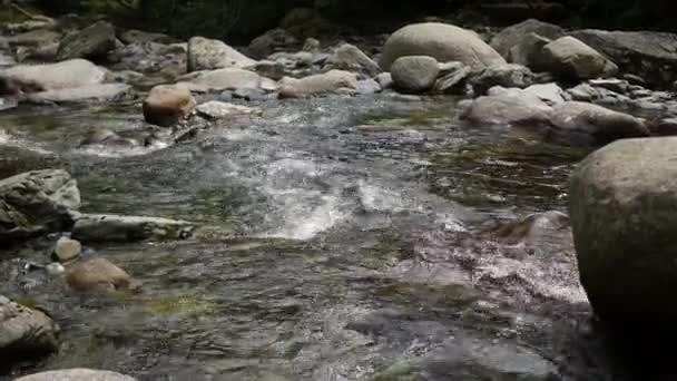 bublající voda v horské řece