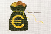 Bag of money with euro symbol