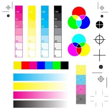 printer marks: printing, cutting and calibration