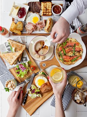 Brunch Choice Dining Food Options Eating Concept