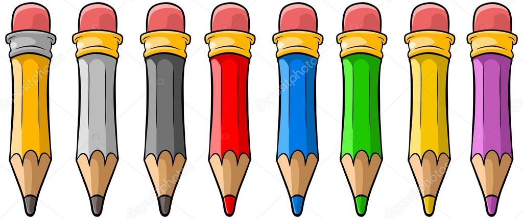Imágenes Lapices Dibujos Animados Juego De Lápices De Color