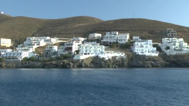 Domy řecké pobřežní města.