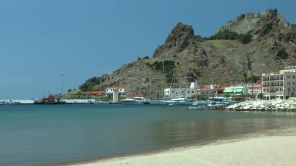 Landscape of Greek coastal town.