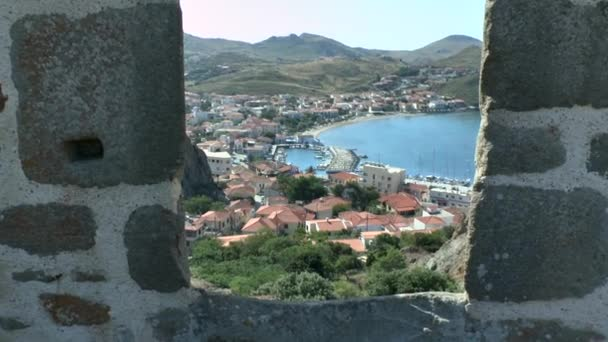 View of the bay and the Greek town.