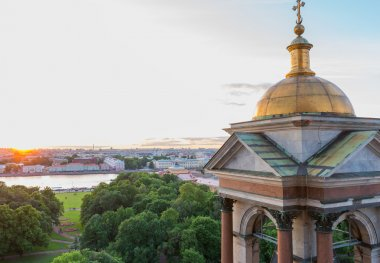 View from the Colonnade of St Isaac's Cathedral in St. Petersburg , Russia