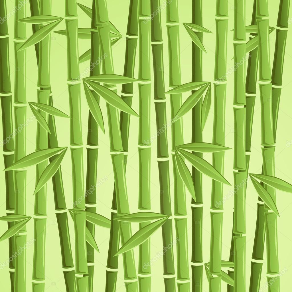 Gruner Bambus Vektor Illustration Stockvektor C Balyasina 108555376