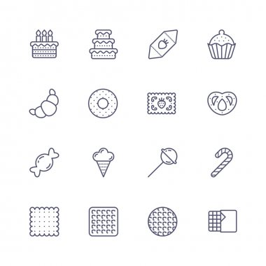 Candy line icons