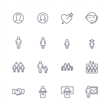 People line icons