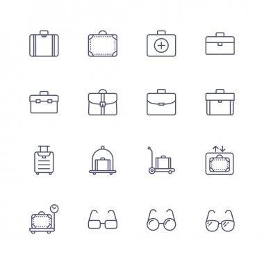 Luggage line icons