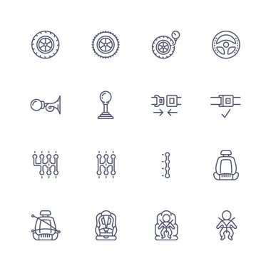 Auto line icons