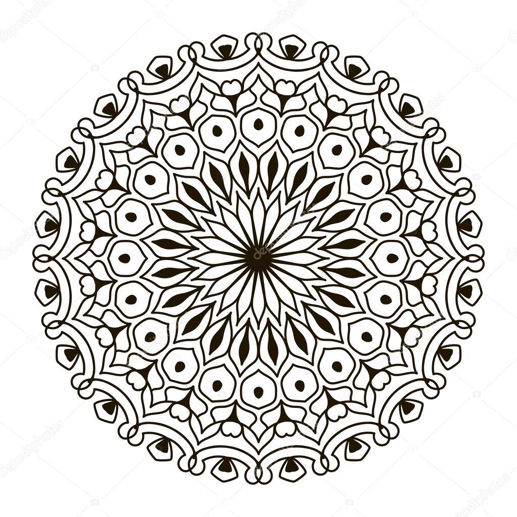 mandala. kreisförmige schablone ornament — stockvektor © tahiku
