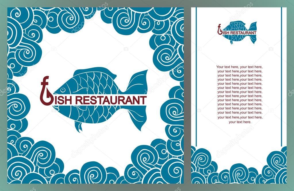 Menu Per Il Ristorante Di Pesce Cucina Mediterranea Pesce Logo