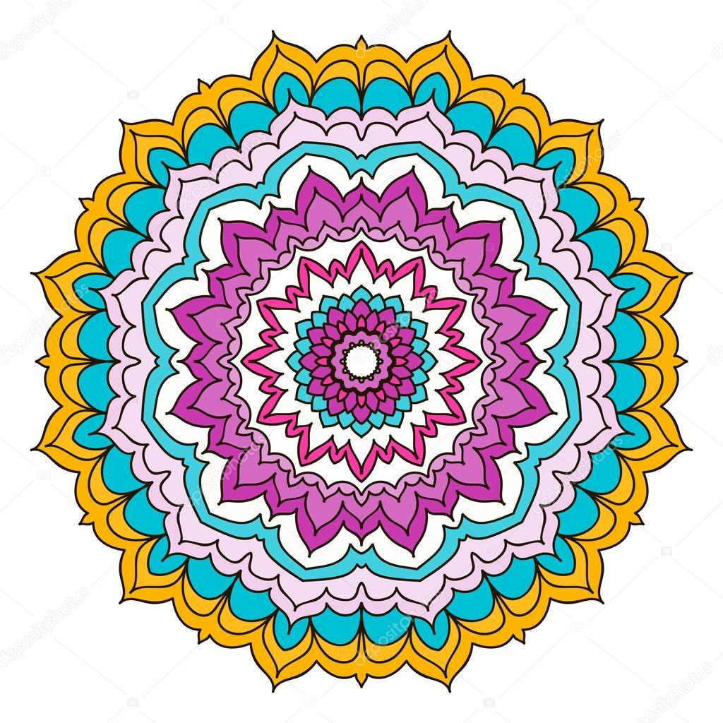 Color mandala sample background stock vector tahiku - Colores para mandalas ...
