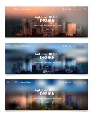 Blurred Polygonal Header Slider Webdesign