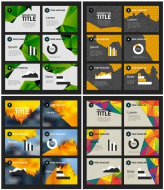 Presentation template backgrounds