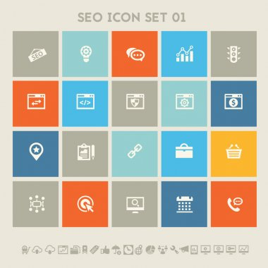 SEO icons, set.