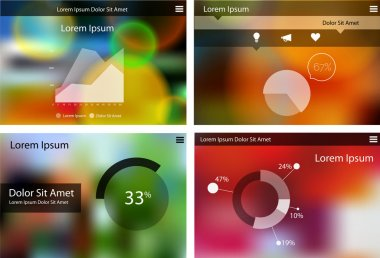 Abstract flat ui statistics templates