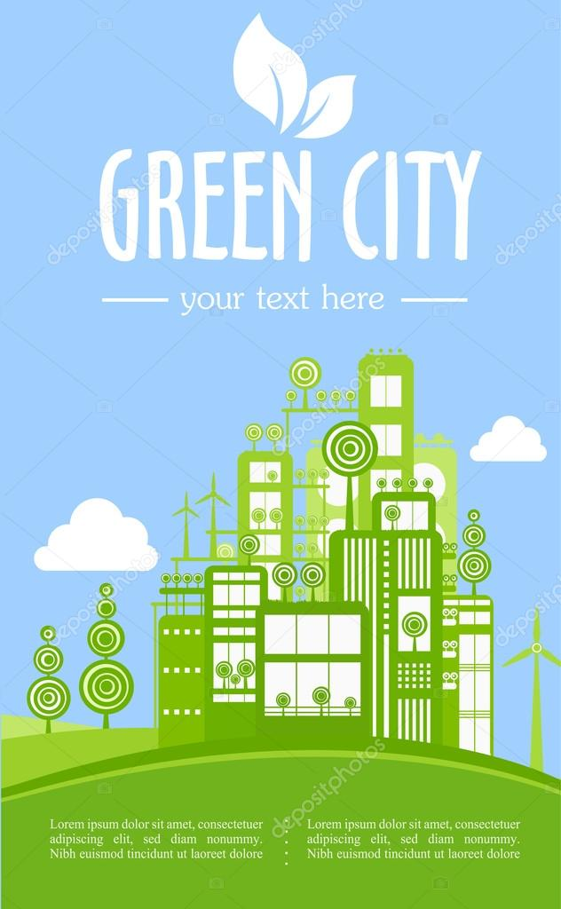 cartoon green city