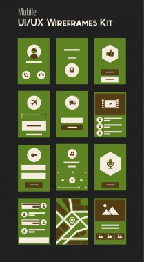Mobile UI and UX Wireframes Kit