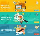 Planung Search Analytics Werbekonzept