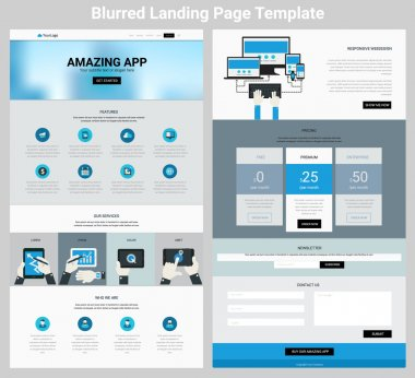 One Page Website and Mobile Apps