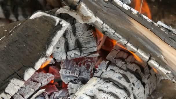 Hořící oheň. Detail