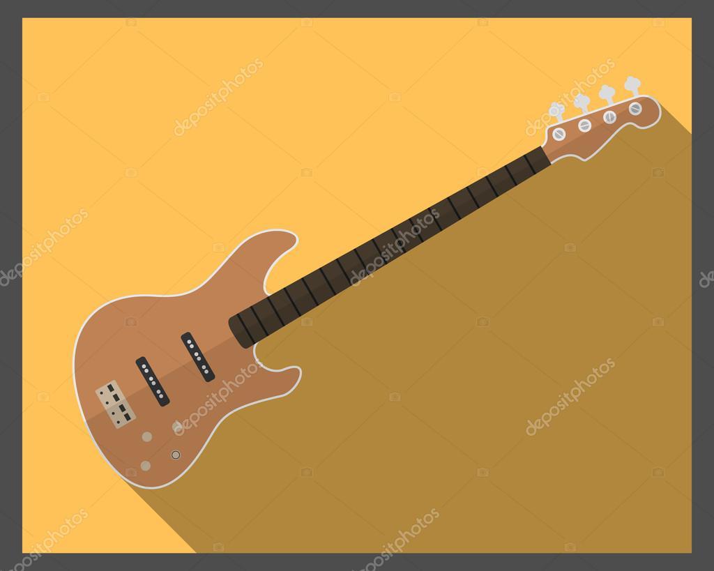Flache Brown-Bassgitarre — Stockvektor © KryvkoDenis #107407322