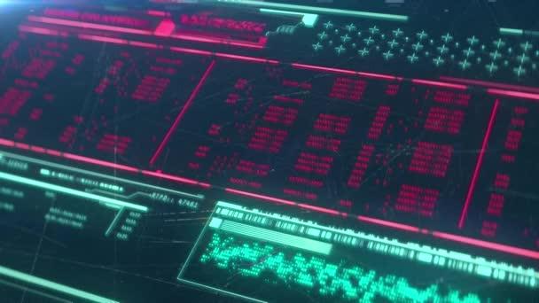 Computerbildschirm mit Programmiercode, Hacking-Prozess, abstrakter Hintergrund