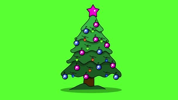 Vánoční stromeček kreslené animace