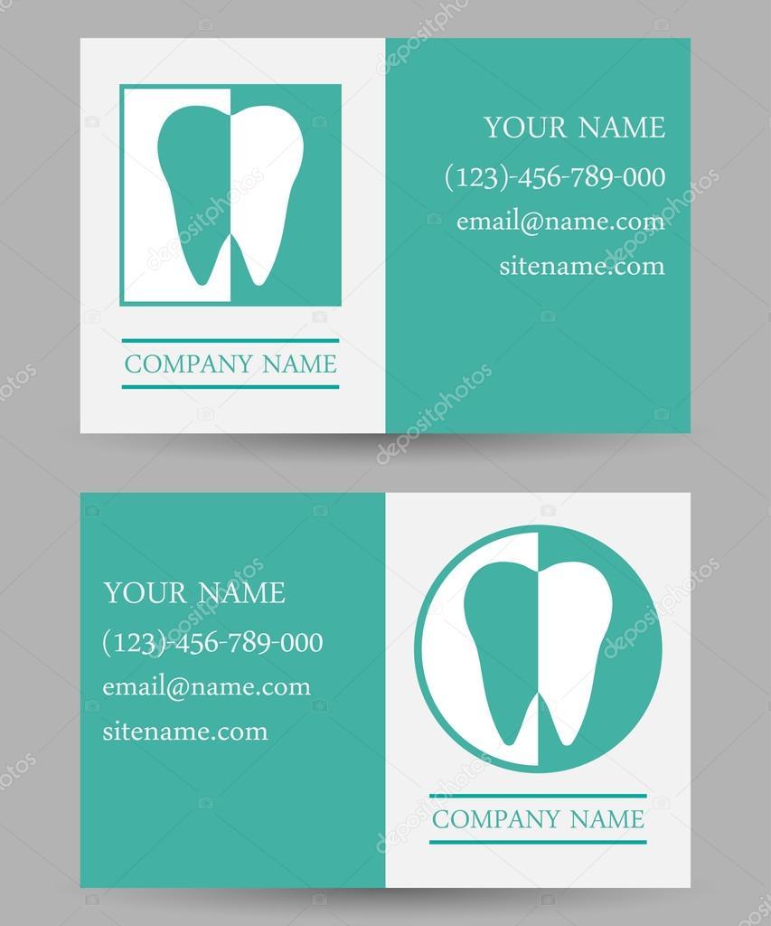 business card templates dental clinic — Stock Vector © Antaya ...