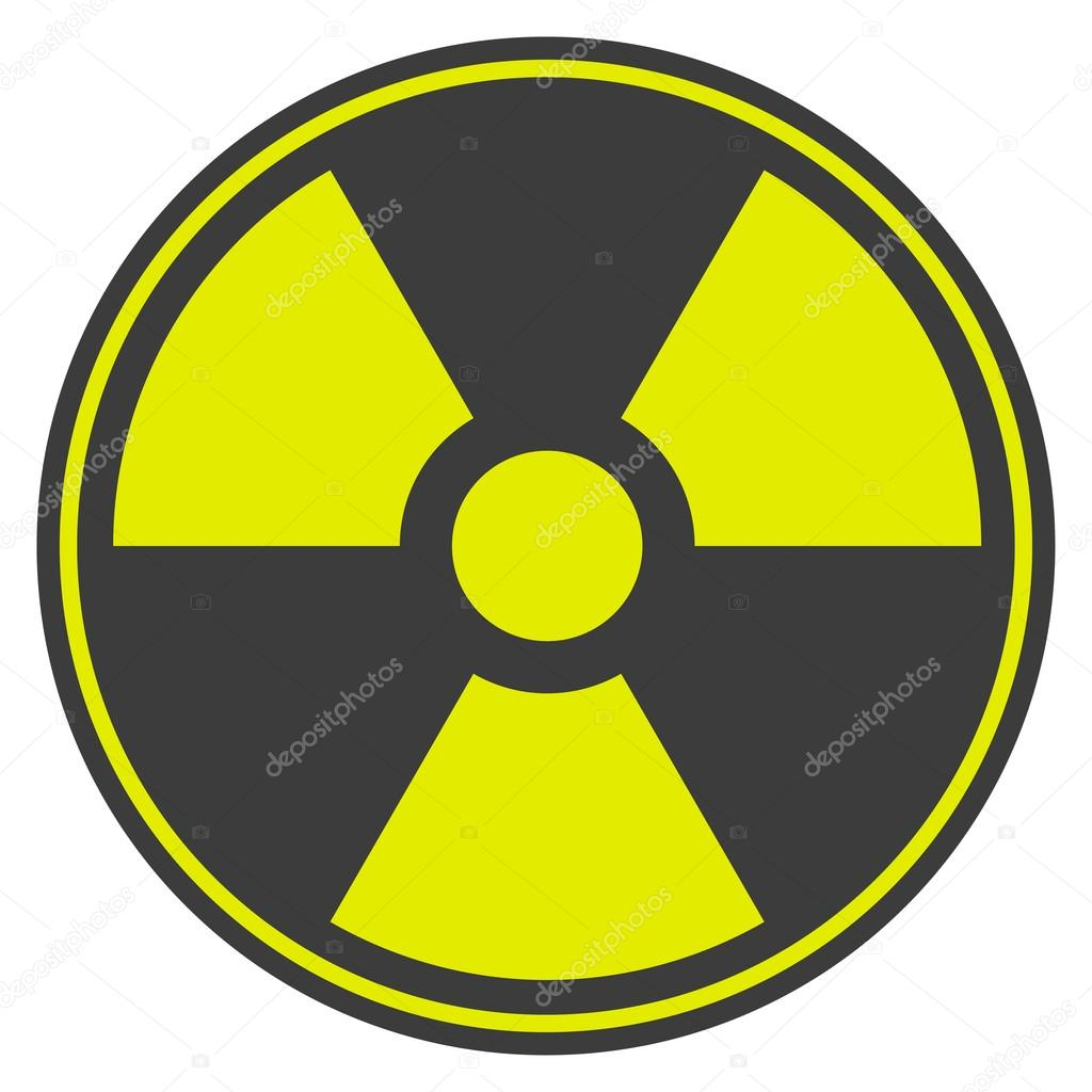 Symbol Of Radioactive Contamination With Highlights On A Black