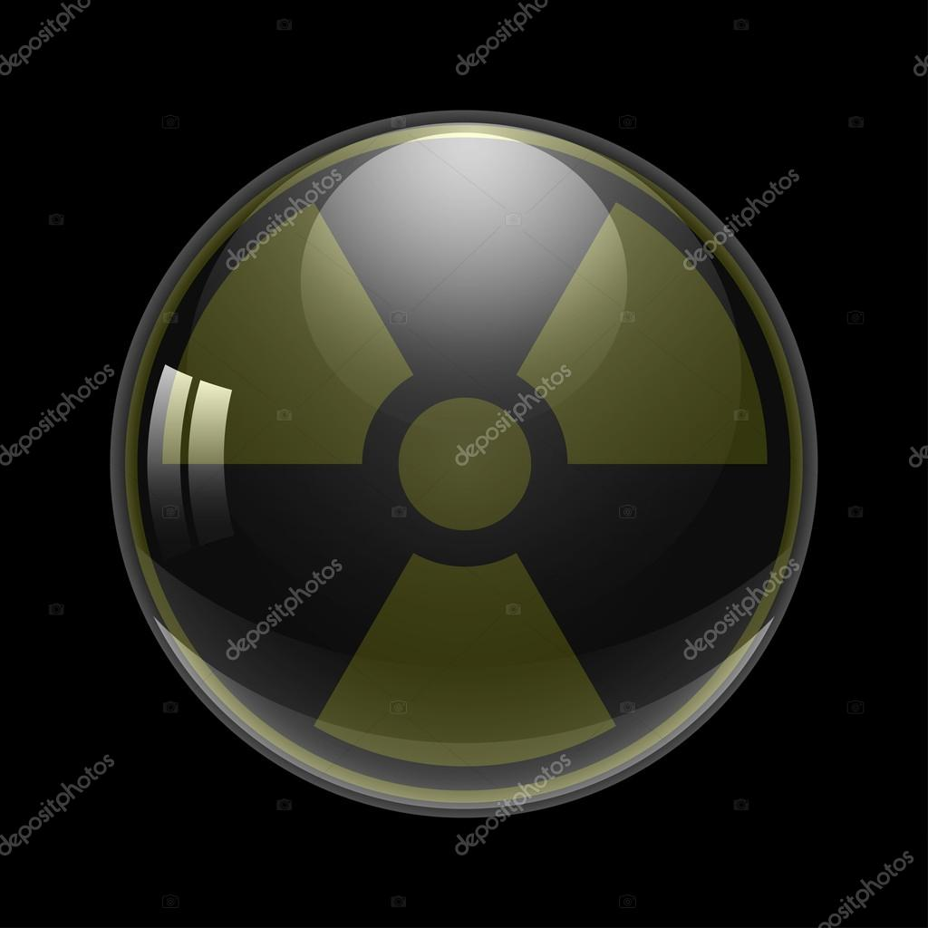 Symbol Of Radioactive Contamination On A Background Ball Danger