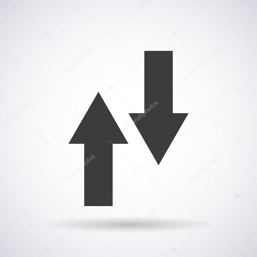 Arrows up, down icon isolated on a white background with