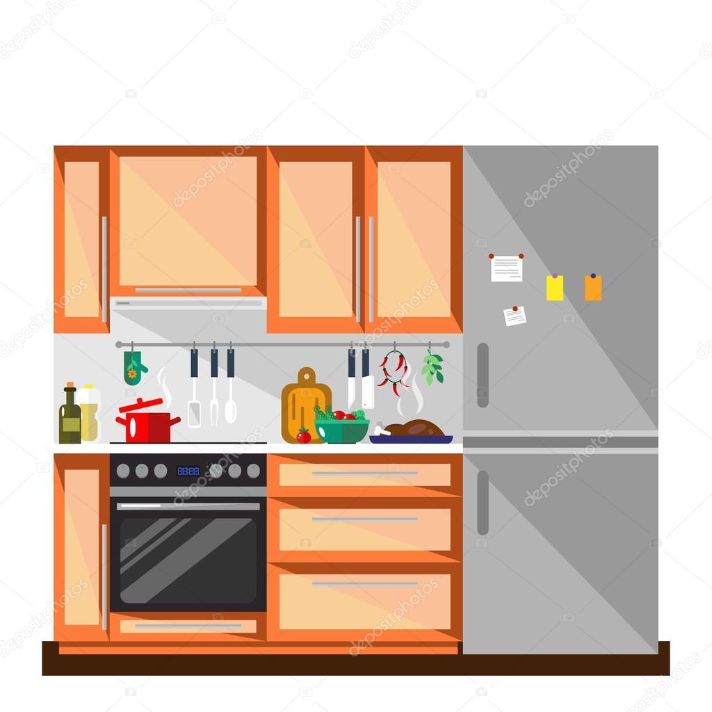 Colores muebles de cocina e interiores de estilo plano for Colores para interiores de cocina