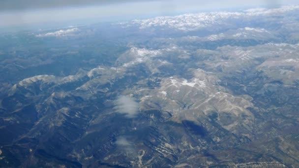 a légi felvétel a hegyek panoráma