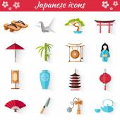 Vector icons in the Japanese style. Set of web elements.