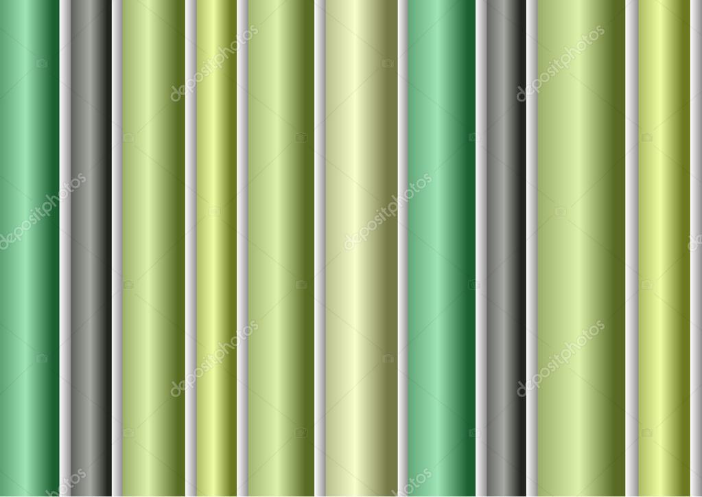 Abstract Green Modern Striped Wallpaper Stock Vector