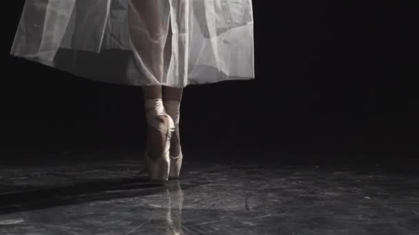 Ballerinas Füße tanzen auf Spitze