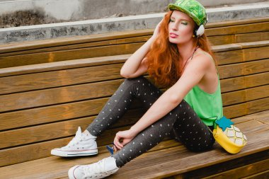 Young stylish hipster woman