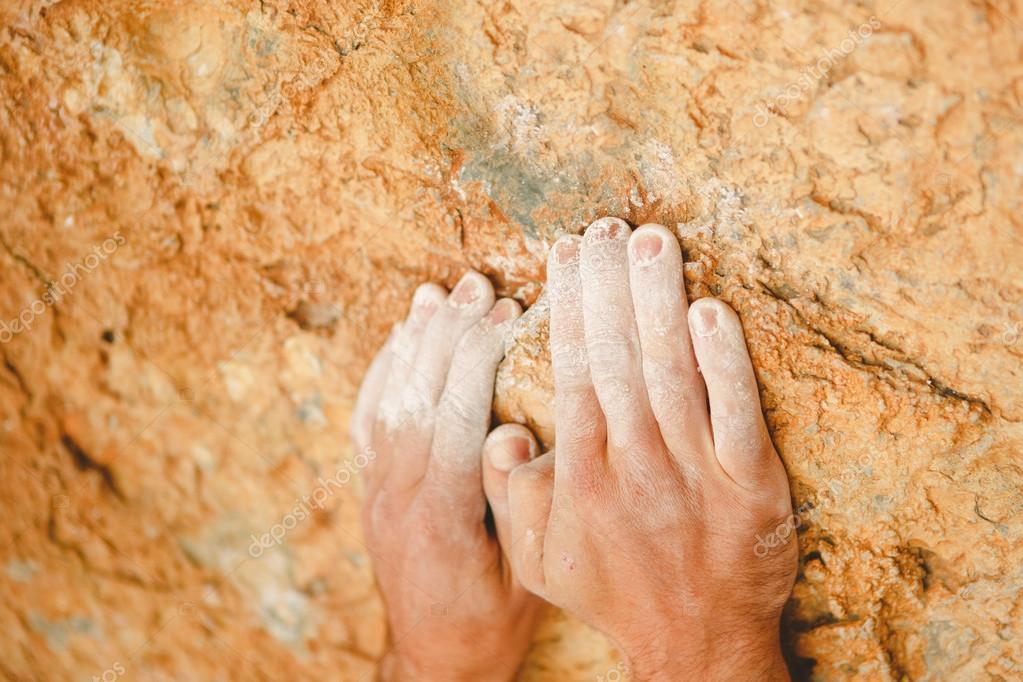 Rock climber hands