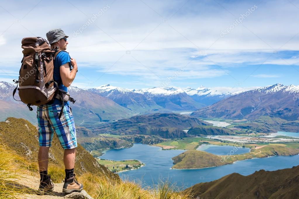 hiker looking at the horizon