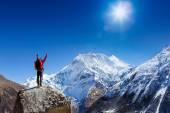 turista na Everest základní tábor