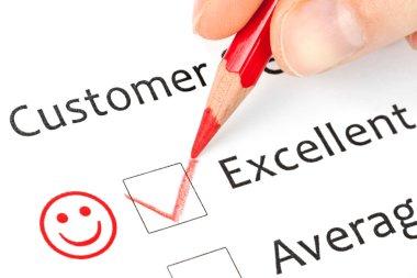 customer service checkbox