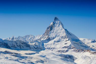 Matterhorn and Swiss Alps background