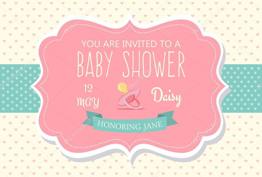Diseño De Tarjeta De Invitacion Baby Shower Diseño De